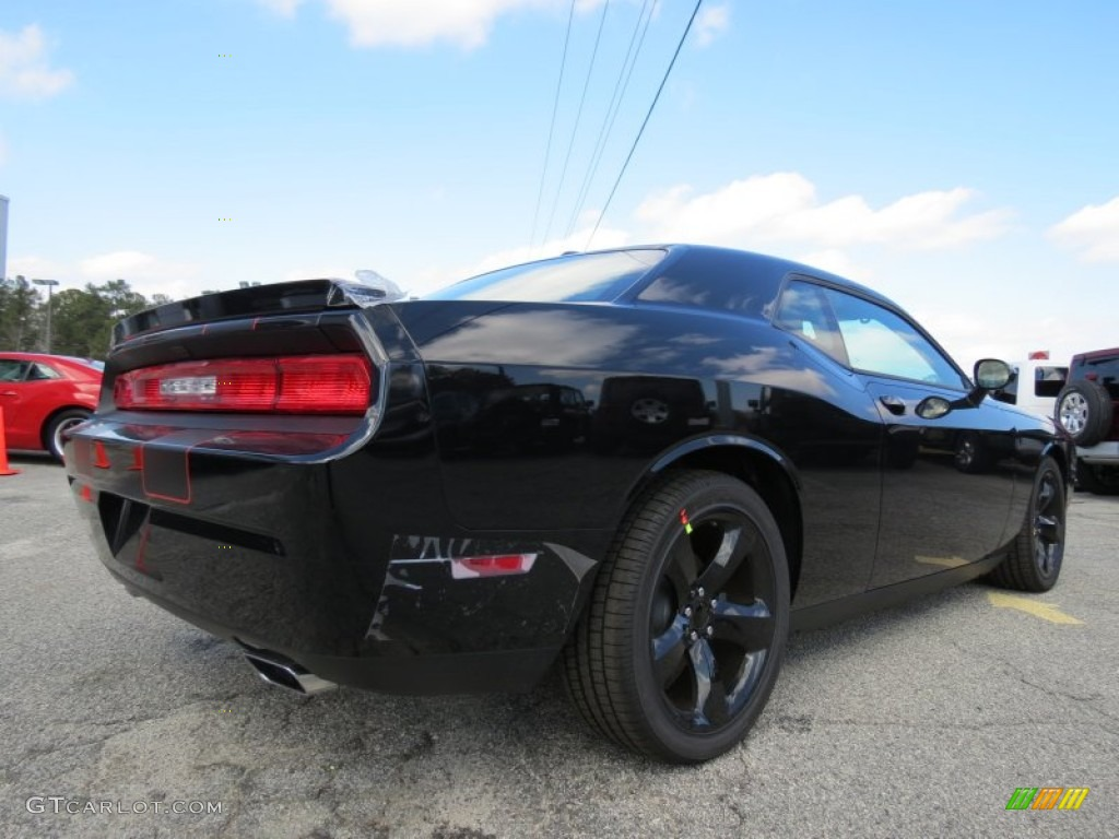 Pitch black 2013 dodge challenger r t blacktop exterior photo 77815087