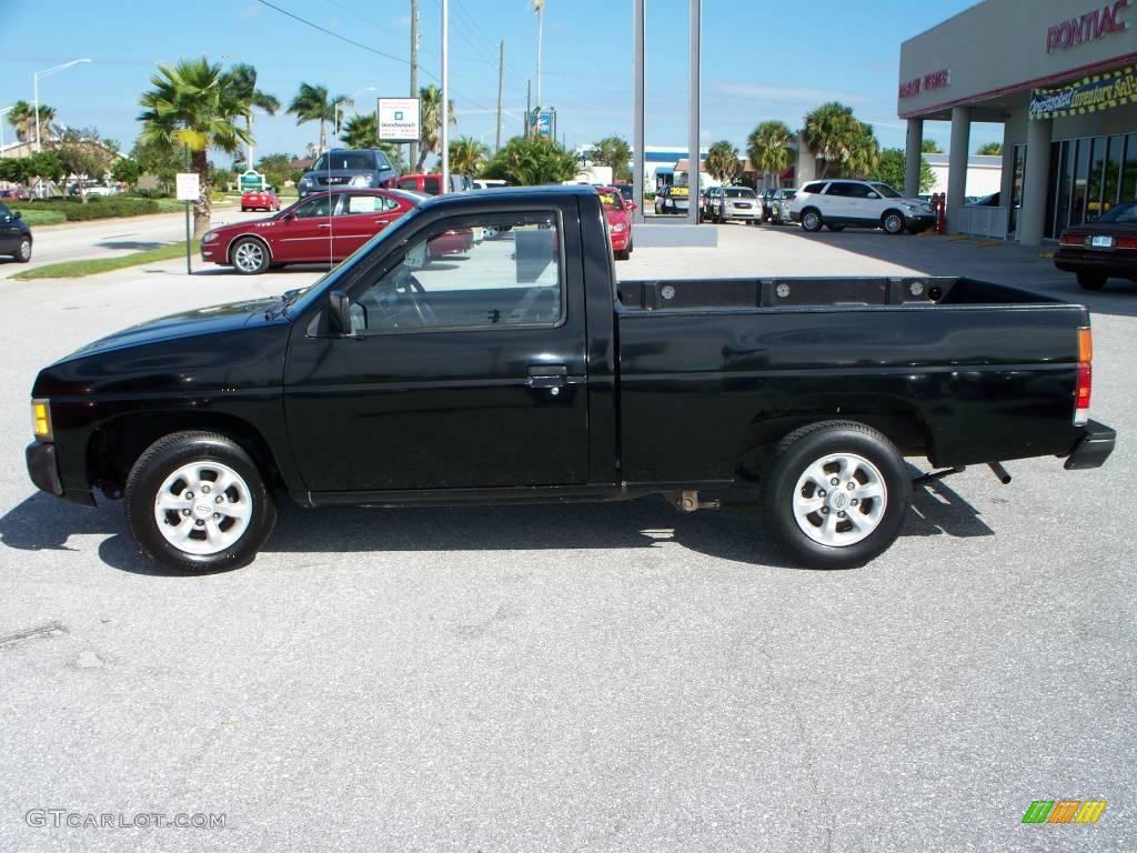 1996 hardbody truck xe regular cab super black dark gray photo 1