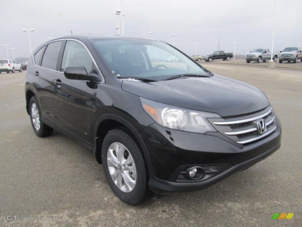 Crystal Black Pearl 2013 Honda Cr V Ex Awd Exterior Photo 77823615