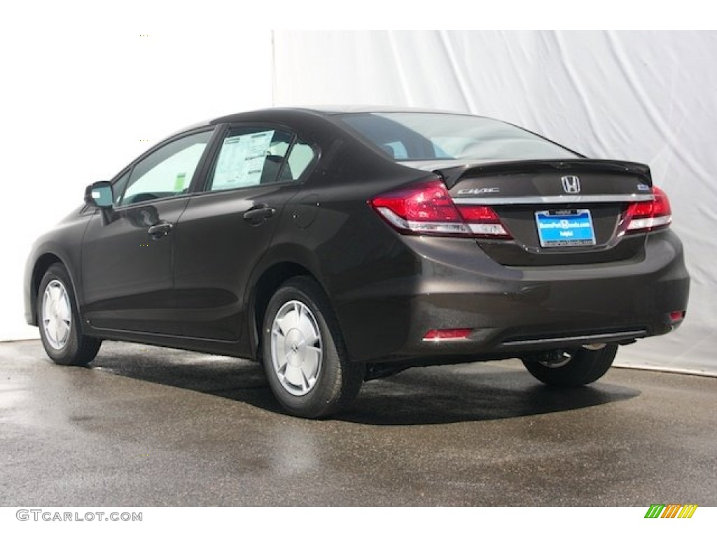 Beautiful 2013 Civic HF Sedan   Kona Coffee Metallic / Black Photo #2