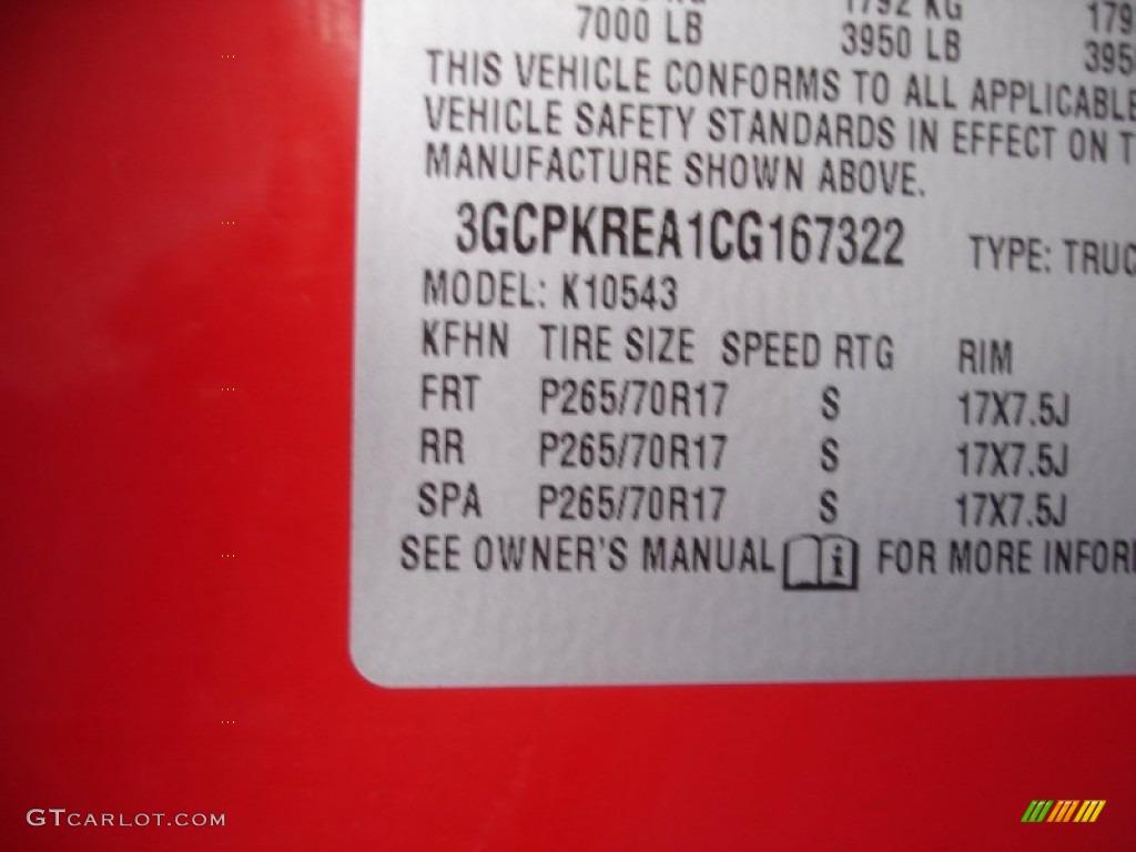 2012 Silverado 1500 LS Crew Cab 4x4 - Victory Red / Dark Titanium photo #15