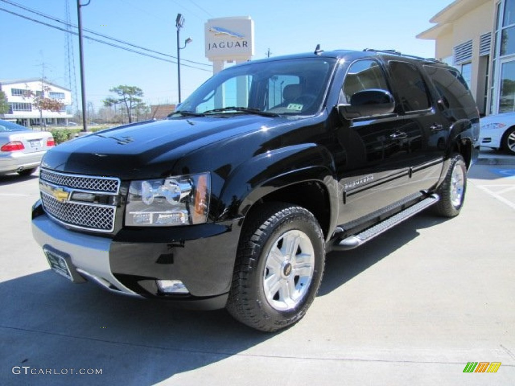 black 2011 chevrolet suburban z71 4x4 exterior photo. Black Bedroom Furniture Sets. Home Design Ideas
