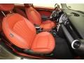 Lounge Redwood Red Leather Front Seat Photo for 2009 Mini Cooper #77880021
