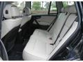 2009 BMW X3 Oyster Nevada Leather Interior Rear Seat Photo