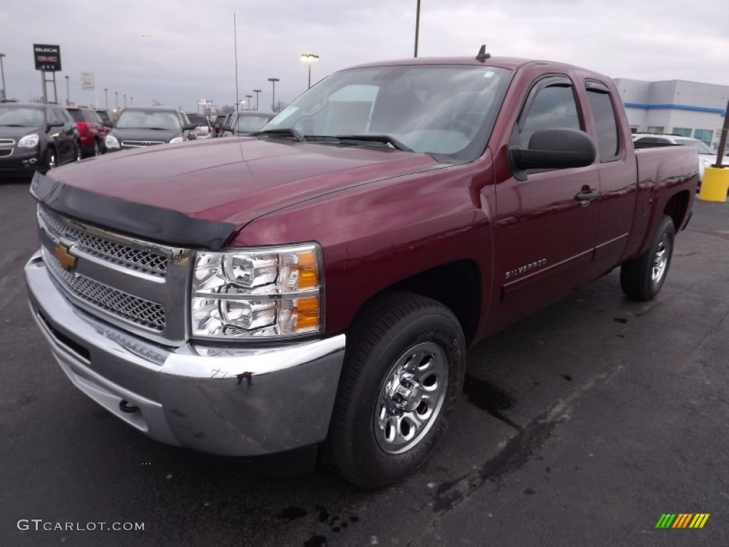 2013 Silverado 1500 LS Extended Cab 4x4 - Deep Ruby Metallic / Ebony photo #1