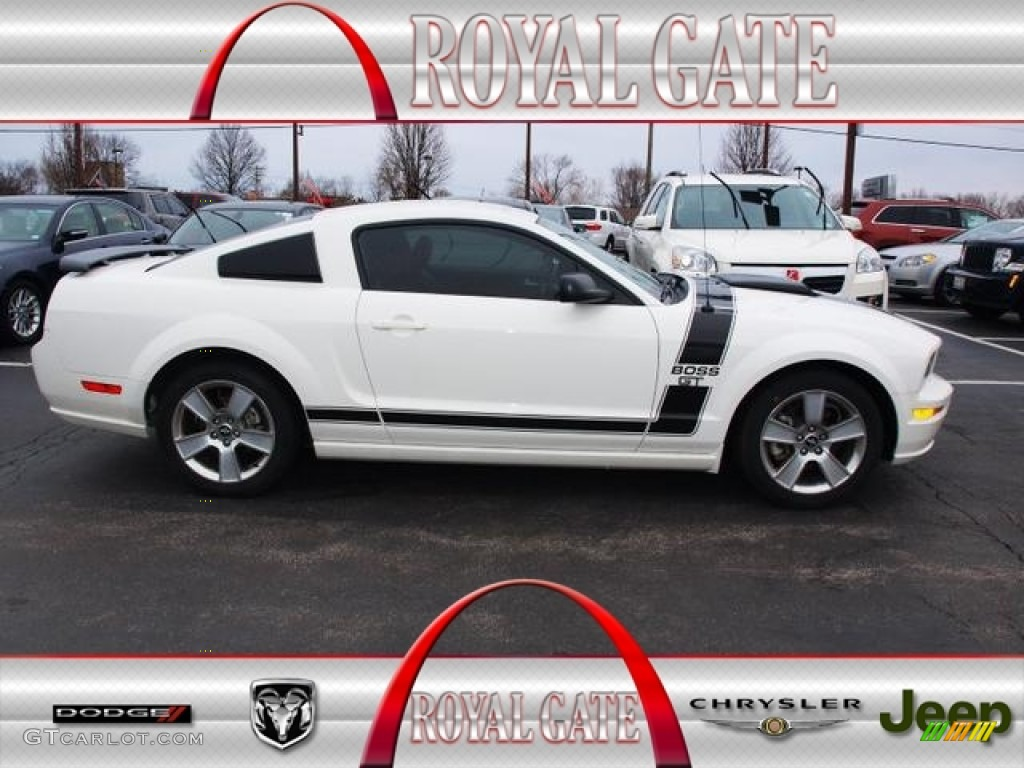 2007 Mustang GT Premium Coupe - Performance White / Black/Red photo #1