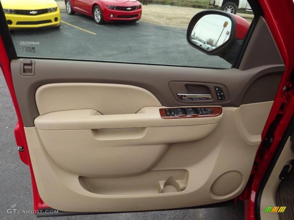 2013 Chevrolet Silverado 1500 LTZ Crew Cab 4x4 Light Cashmere/Dark Cashmere Door Panel Photo #77887448