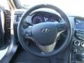 Gray Leather/Gray Cloth Steering Wheel Photo for 2013 Hyundai Genesis Coupe #77890902