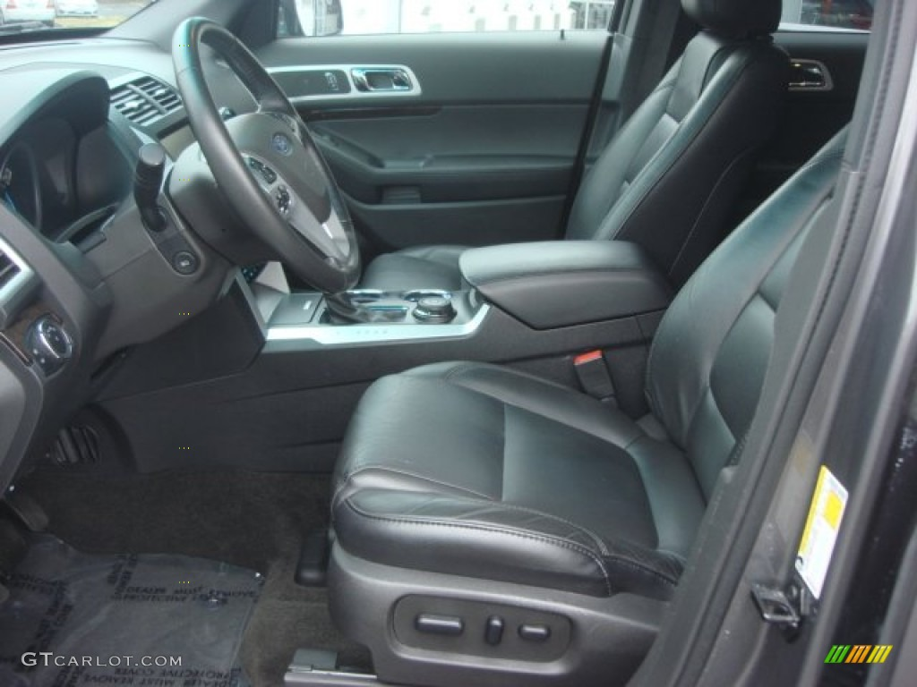 Charcoal Black Interior 2013 Ford Explorer Limited 4wd Photo 77907194