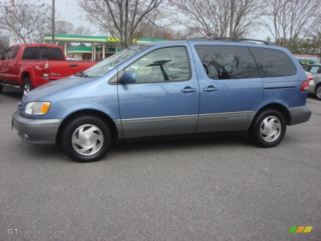 2003 denim blue pearl toyota sienna xle 77892037 photo 7. Black Bedroom Furniture Sets. Home Design Ideas