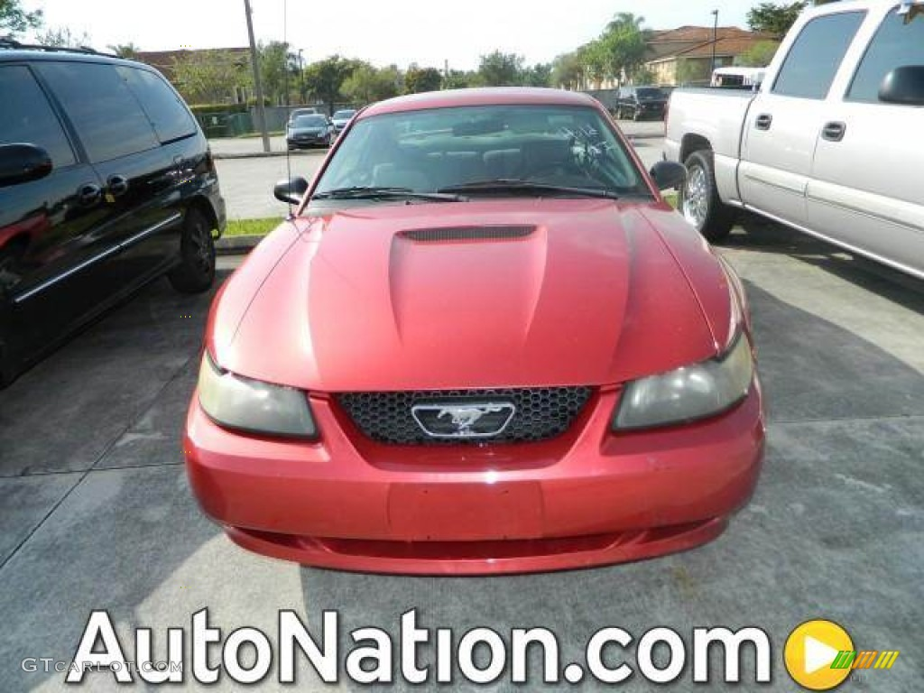 2001 Mustang V6 Coupe - Laser Red Metallic / Medium Graphite photo #1