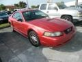 2001 Laser Red Metallic Ford Mustang V6 Coupe  photo #3