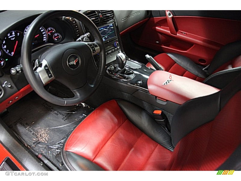 ebony black red interior 2011 chevrolet corvette grand sport coupe photo 77932472