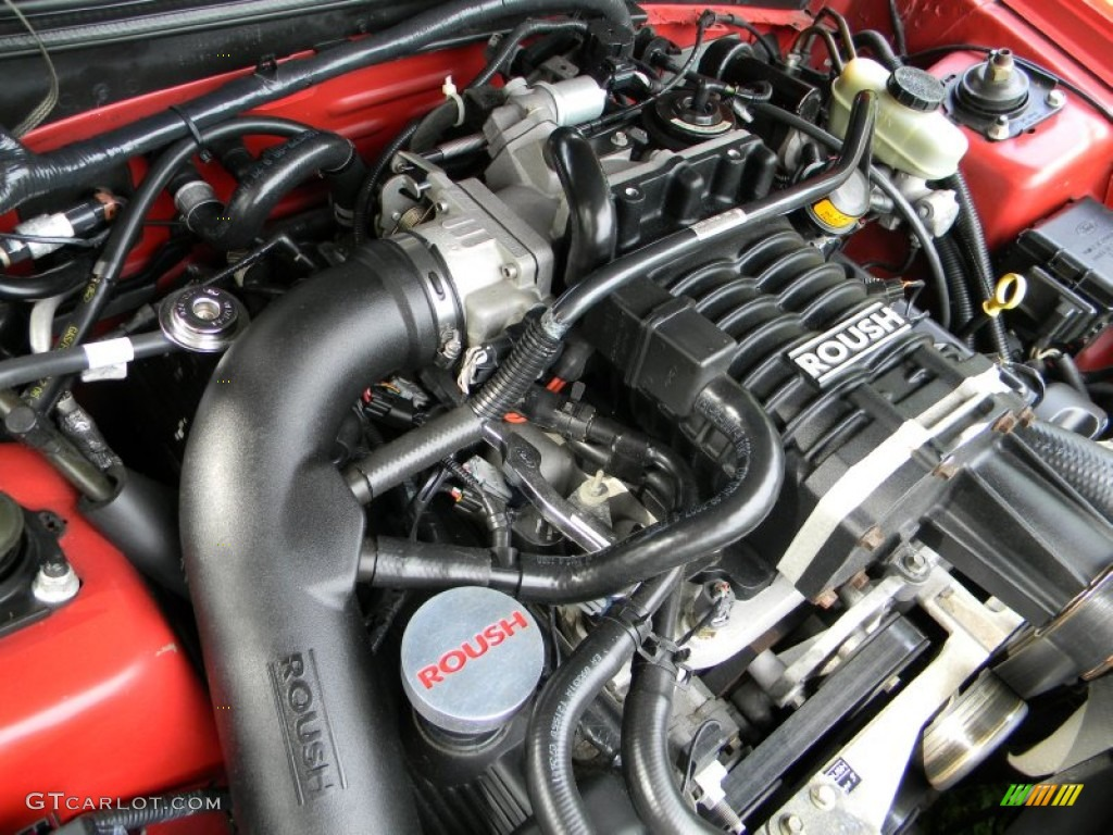 2002 Ford Mustang Roush Stage 3 Coupe Engine Photos