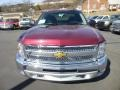 2013 Deep Ruby Metallic Chevrolet Silverado 1500 LT Extended Cab 4x4  photo #2
