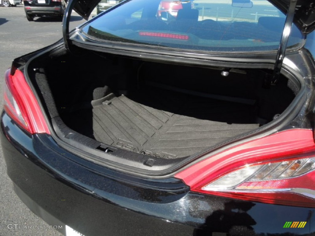 2013 Genesis Coupe 2.0T - Black Noir Pearl / Black Cloth photo #17