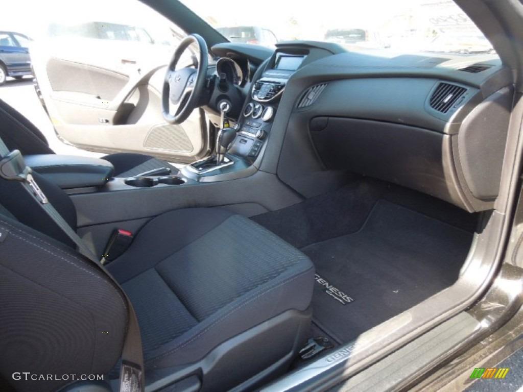 2013 Genesis Coupe 2.0T - Black Noir Pearl / Black Cloth photo #19