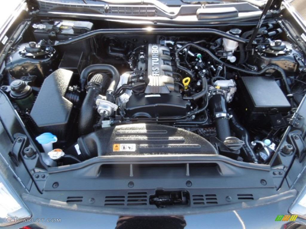 2013 Genesis Coupe 2.0T - Black Noir Pearl / Black Cloth photo #22