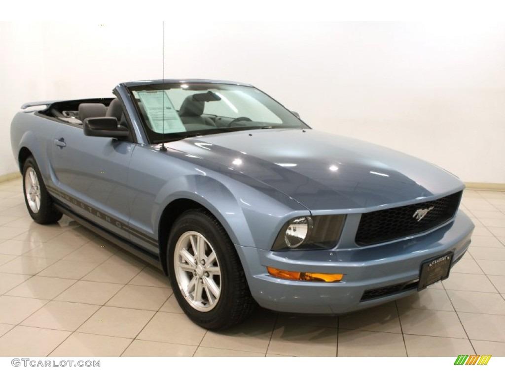 2007 Mustang V6 Premium Convertible - Windveil Blue Metallic / Light Graphite photo #1