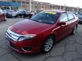 2011 Red Candy Metallic Ford Fusion SEL V6 AWD  photo #4