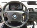 2006 BMW X3 Black Interior Steering Wheel Photo