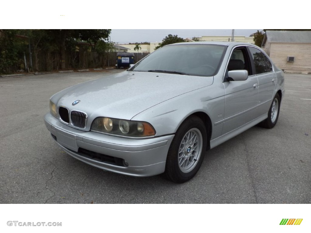 2001 Aspen Silver Metallic BMW 5 Series 525i Sedan #77961375 ...