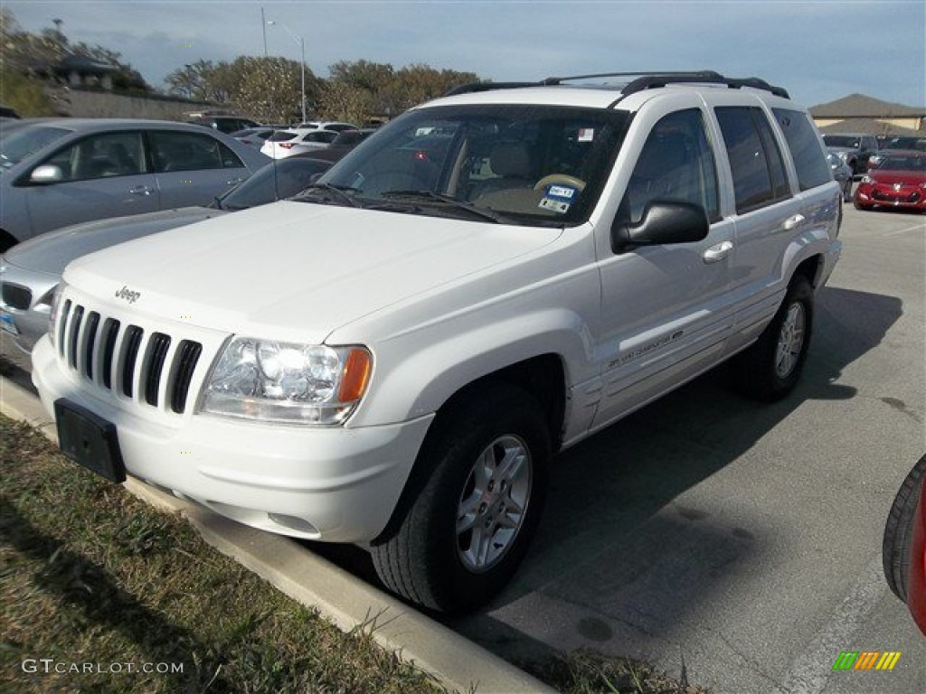 Stone white 2000 jeep grand cherokee limited 4x4 exterior for Interieur jeep grand cherokee 2000