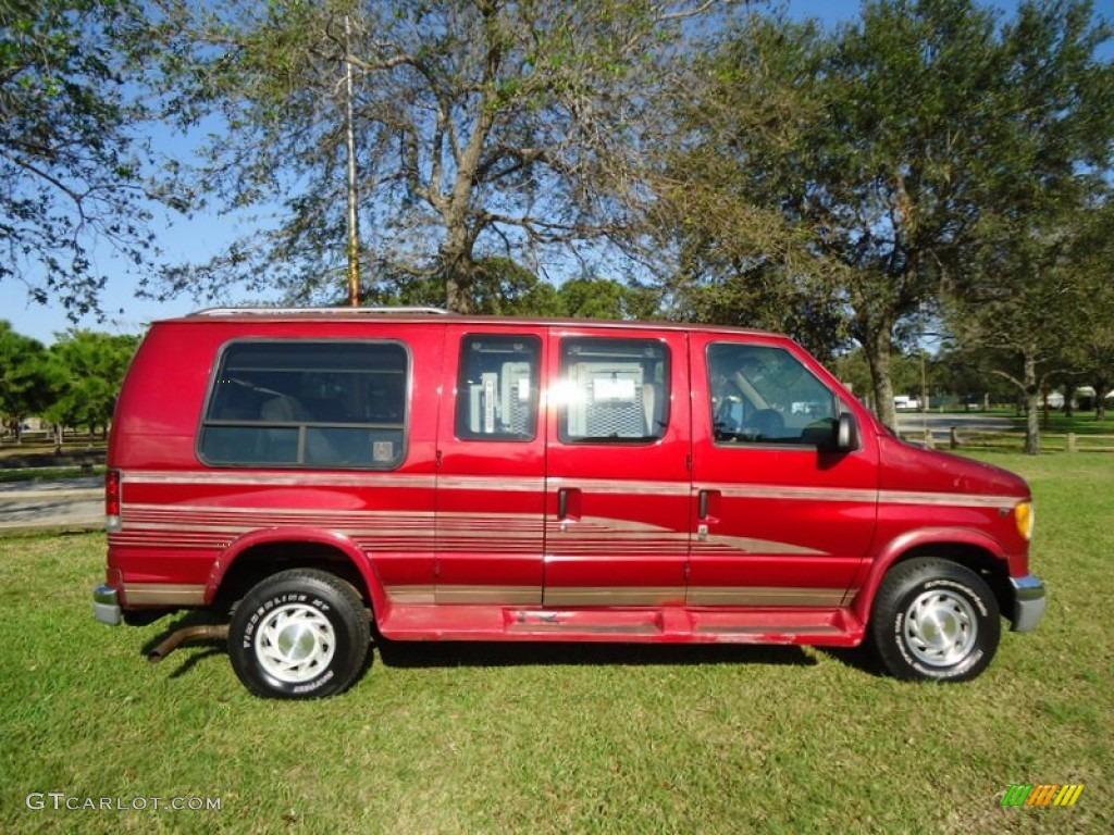 Toreador red metallic 1997 ford e series van e150 conversion van exterior photo 78008676