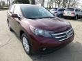 2013 Basque Red Pearl II Honda CR-V EX AWD  photo #6