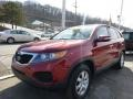 2011 Spicy Red Kia Sorento LX AWD  photo #1