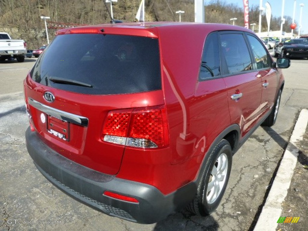 2011 Sorento LX AWD - Spicy Red / Gray photo #5