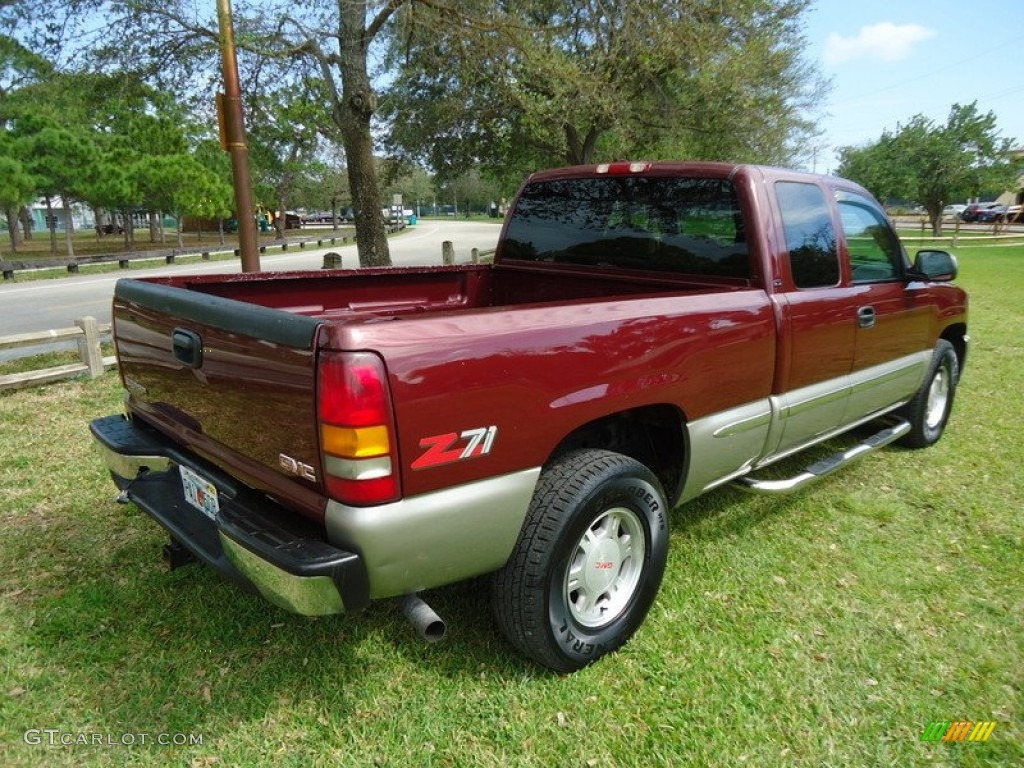 dark toreador red metallic 2000 gmc sierra 1500 sle extended cab 4x4 exterior photo 78017744. Black Bedroom Furniture Sets. Home Design Ideas