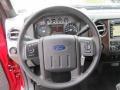 2012 Ford F250 Super Duty Black Interior Steering Wheel Photo
