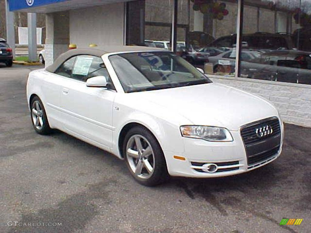2008 ibis white audi a4 3 2 quattro cabriolet 7790501. Black Bedroom Furniture Sets. Home Design Ideas