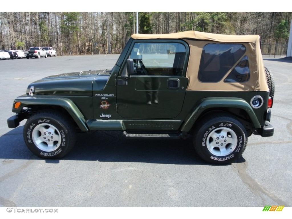 Moss Green Pearl 1998 Jeep Wrangler Sahara 4x4 Exterior Photo 78049503 Gtcarlot Com