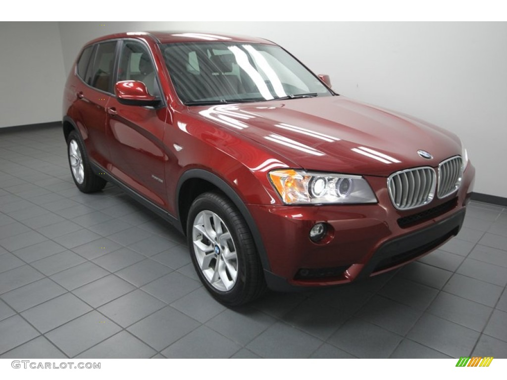 vermillion red metallic 2013 bmw x3 xdrive 28i exterior photo 78059850. Black Bedroom Furniture Sets. Home Design Ideas