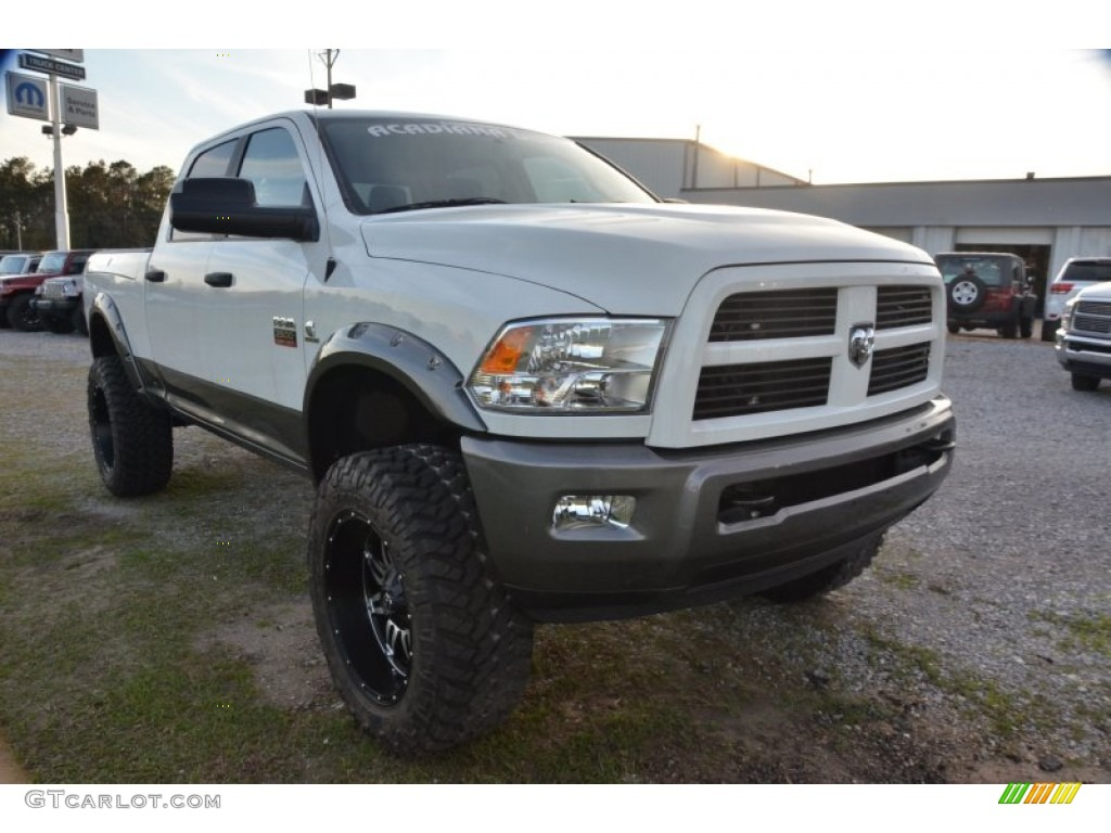 2010 bright white dodge ram 2500 trx4 off road crew cab 4x4 78023204 photo 15. Black Bedroom Furniture Sets. Home Design Ideas
