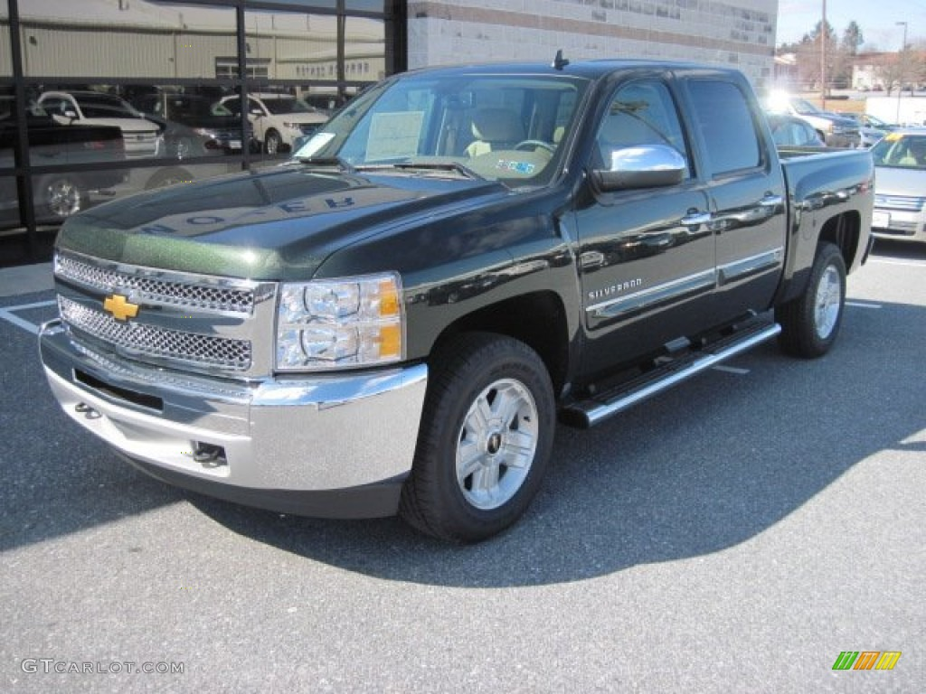 2013 Silverado 1500 LT Crew Cab 4x4 - Fairway Metallic / Light Cashmere/Dark Cashmere photo #2