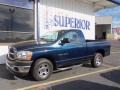 2006 Patriot Blue Pearl Dodge Ram 1500 ST Regular Cab  photo #3