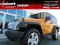 2012 Dozer Yellow Jeep Wrangler Sahara 4x4 #78076317