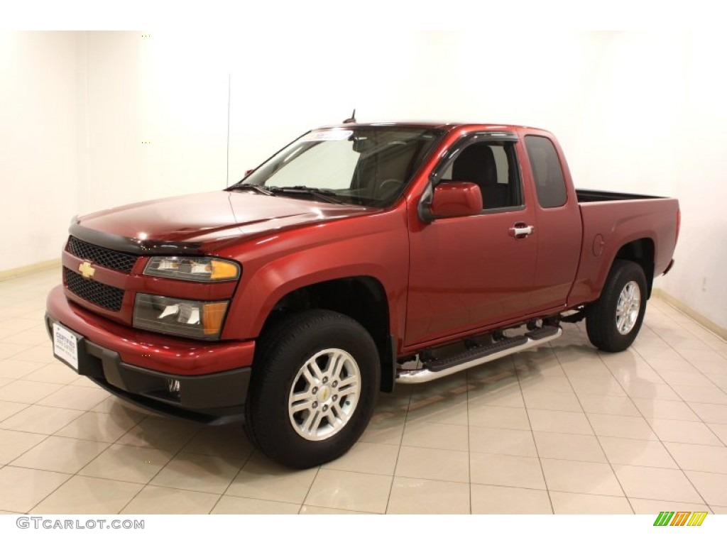cardinal red metallic 2011 chevrolet colorado lt extended. Black Bedroom Furniture Sets. Home Design Ideas