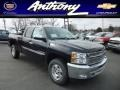 2013 Black Chevrolet Silverado 1500 LT Extended Cab 4x4  photo #1