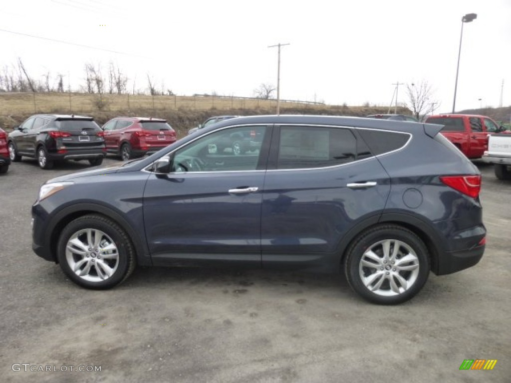 marlin blue 2013 hyundai santa fe sport 2 0t awd exterior. Black Bedroom Furniture Sets. Home Design Ideas
