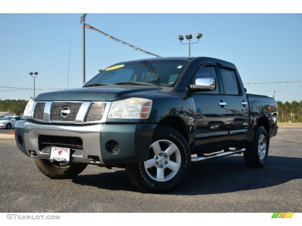 2004 deep water blue green nissan titan se crew cab 4x4 78076574 car color. Black Bedroom Furniture Sets. Home Design Ideas
