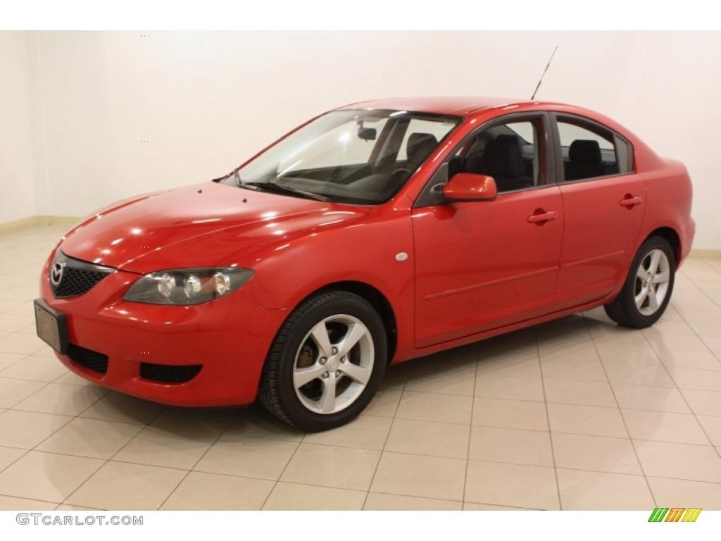 Velocity red 2004 mazda mazda3 i sedan exterior photo for Mazda 3 exterior colors