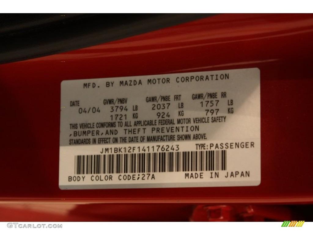 2004 Mazda MAZDA3 i Sedan Color Code Photos | GTCarLot.com