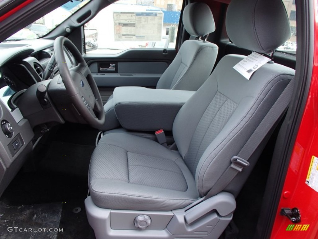 steel gray interior 2013 ford f150 stx regular cab 4x4. Black Bedroom Furniture Sets. Home Design Ideas