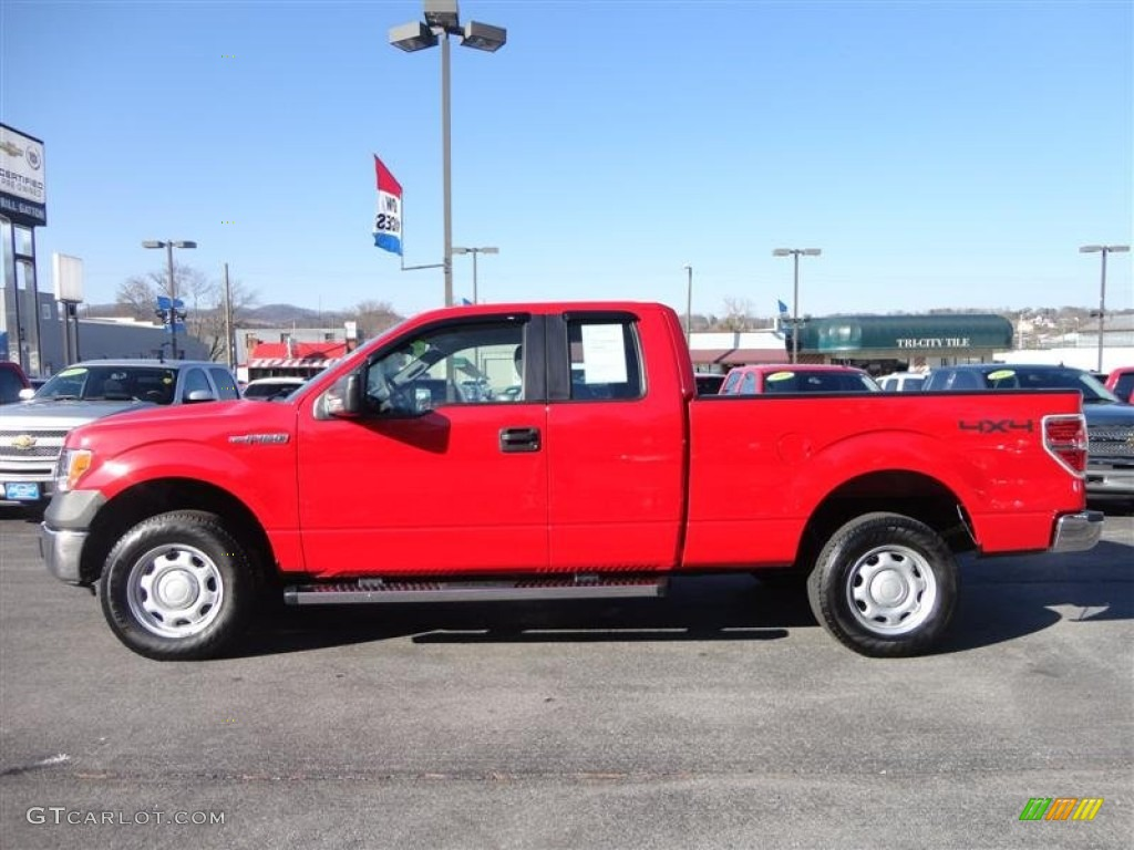 Vermillion Red 2010 Ford F150 Xl Supercab 4x4 Exterior