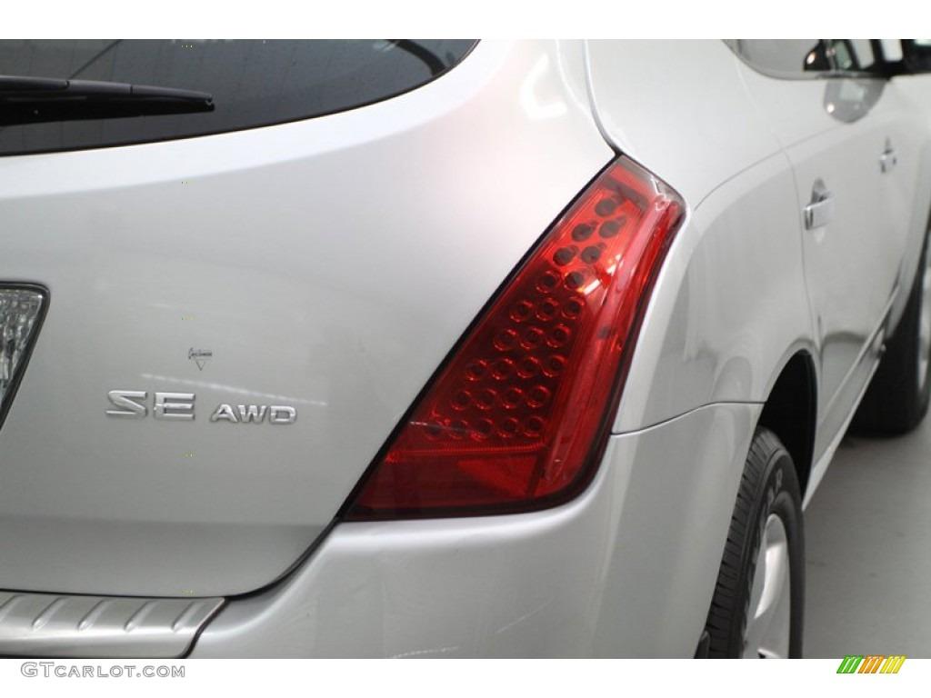 2007 Murano SE AWD - Brilliant Silver Metallic / Charcoal photo #6