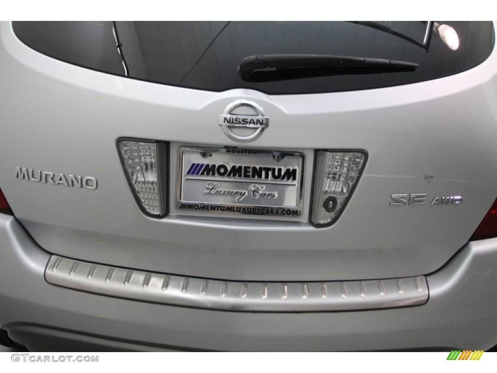 2007 Murano SE AWD - Brilliant Silver Metallic / Charcoal photo #7